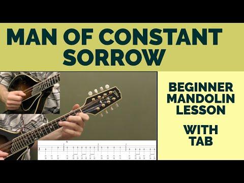 Man Of Constant Sorrow Beginner Mandolin Lesson