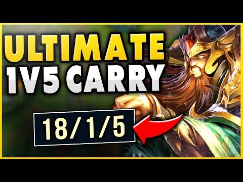 MY ENTIRE TEAM FEEDS BUT I CAN'T MAKE A MISTAKE!?! ULTIMATE 1V5 TRYNDAMERE - League of Legends