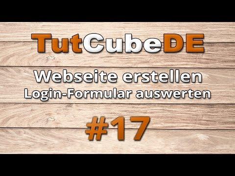 HTML5 & CSS3 - Webseite Erstellen (Login [Formular Auswerten]) #17 [TuTCube]