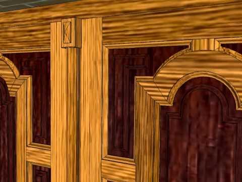 Puerta abatible automatizada con pistones spaziel by puertaselectronicas dehidalgo - Carpinteria santa clara ...