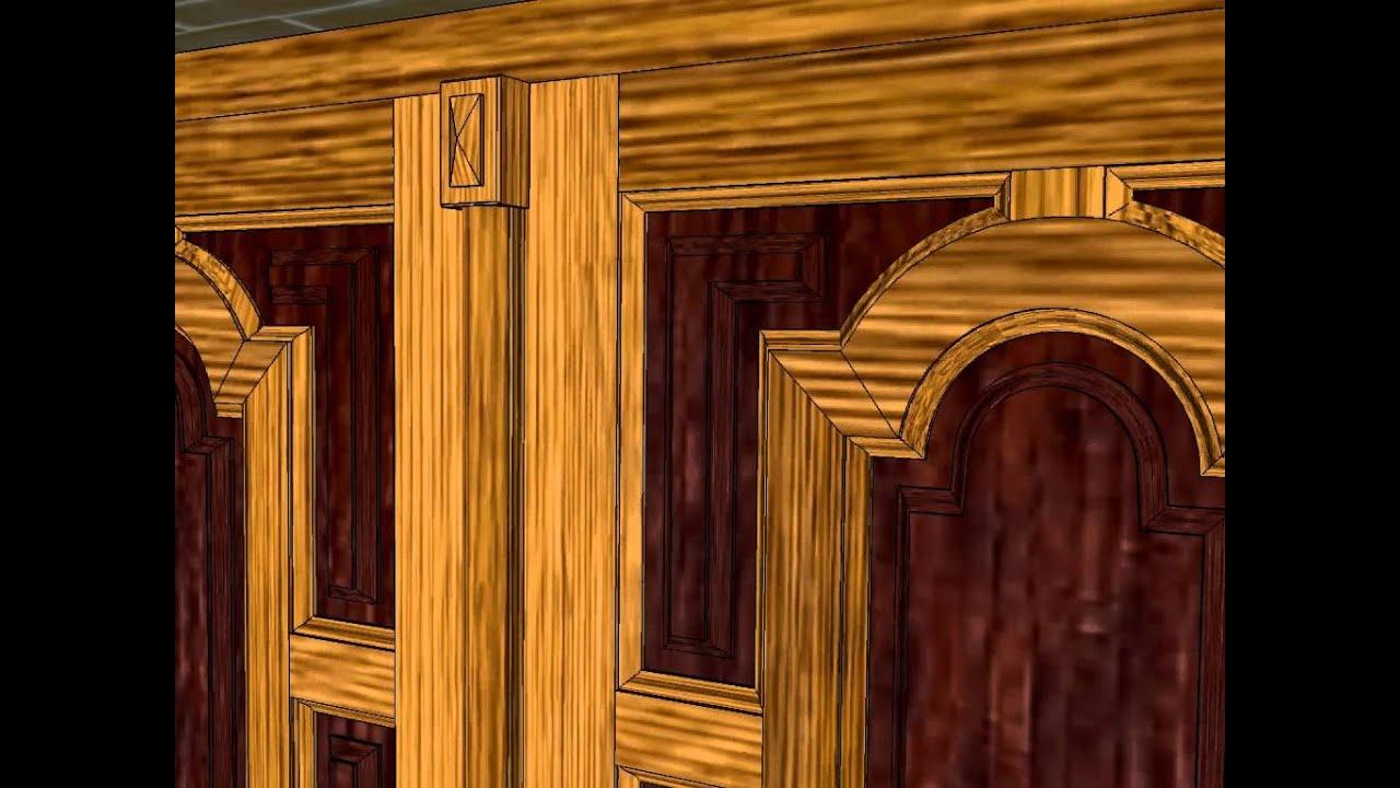 Puerta calle 2 hojas con banderola carpinteria santa youtube - Carpinteria santa clara ...
