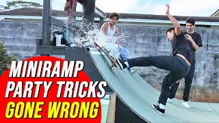 MINI RAMP PARTY TRICKS GONE WRONG