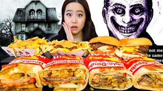 CRAZY STALKER STORYTIME + PIZZA DELIVERY KIDNAPPING (NEW! IN-N-OUT ANIMAL STYLE BURRITO MUKBANG)