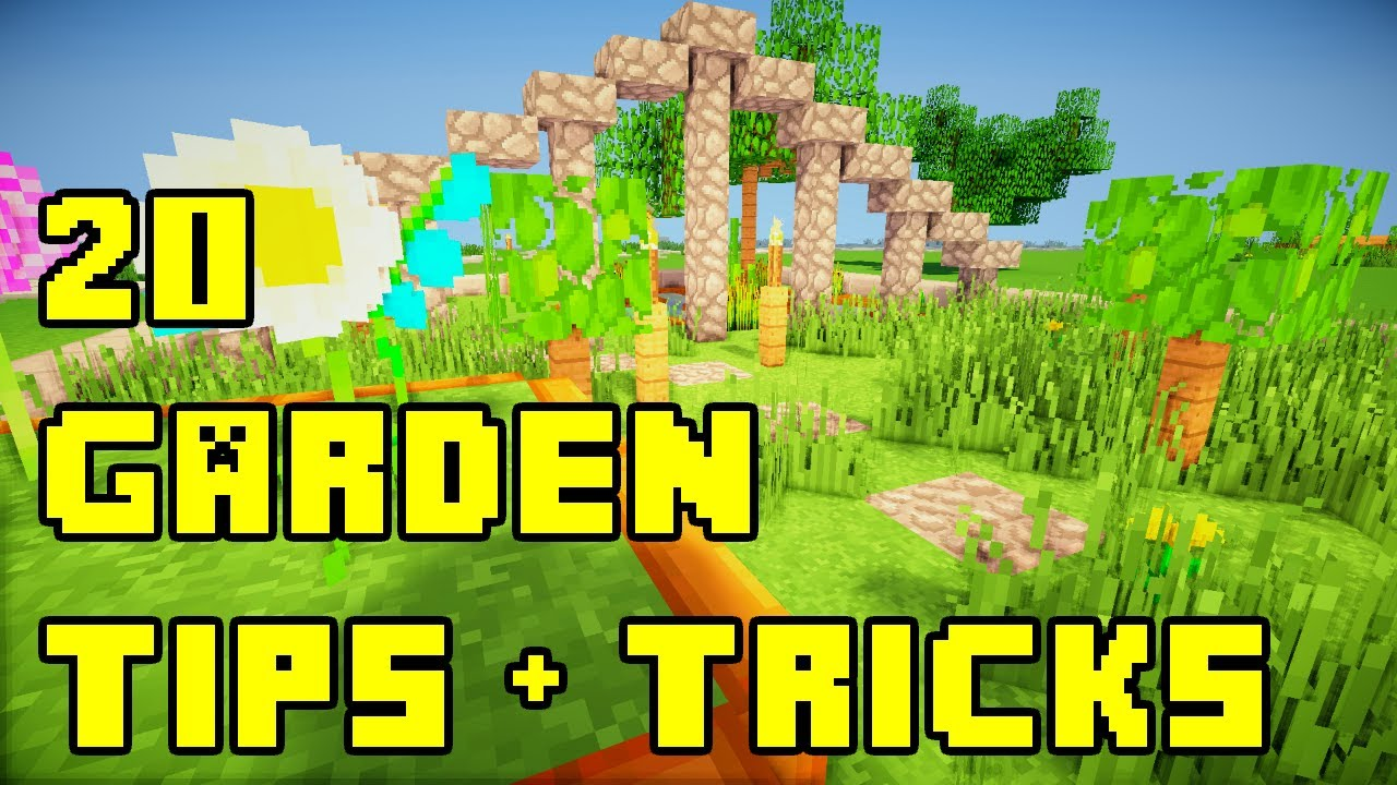 minecraft 20 backyardgarden landscaping ideas tutorial xboxpeps3pc youtube