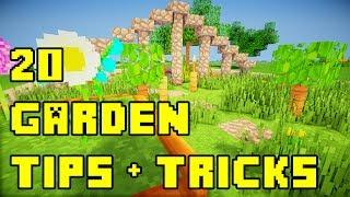 Minecraft: 20 Backyard/Garden Landscaping Ideas Tutorial Xbox/PE/PS3/PC