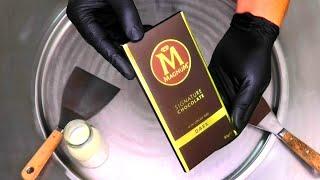 MAGNUM Ice Cream Rolls | MAGNUM Signature Chocolate Ice Cream Recipe - fried rolled Ice Cream | ASMR