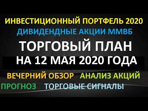 ТОРГОВЫЙ ПЛАН на 12 мая 2020 года - акции ММВБ. Мой инвестиционный портфель. Обзор. Торговый сигналы