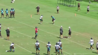 2018 Training Camp: DB vs. WR drills