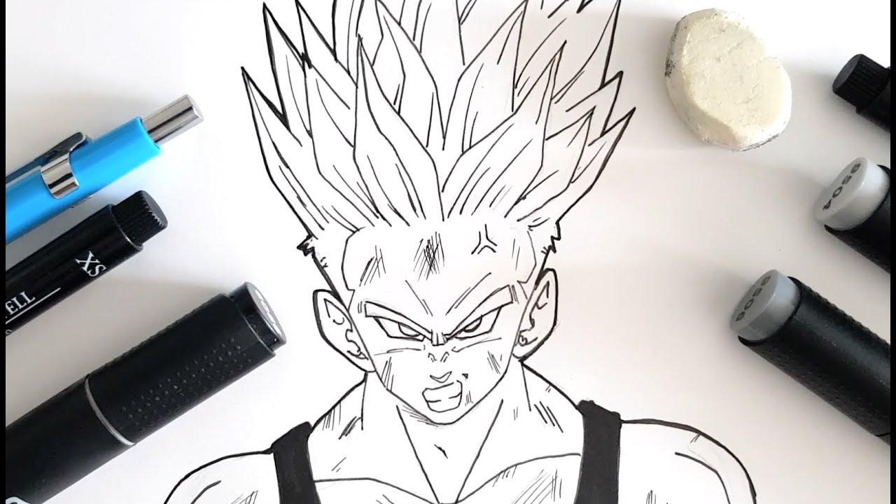 How To Draw Trunks Ssj Dragon Ball Super