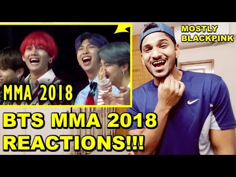 BTS MMA 2018 REACTIONS (BLACKPINK MOSTLY)