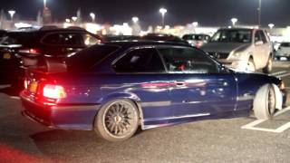 CRAZIEST CAR MEET ON LONG ISLAND! REVVING, BURNOUTS, AND POLICE EVERYWHERE!!!