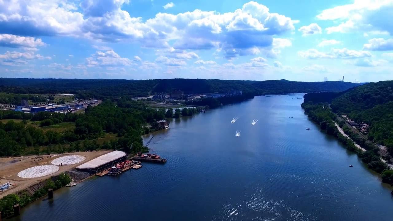 DJI PHANTOM 3 Professional - BEAVER COUNTY, PA - Ohio River - Lockhouse 6 -  QuippaDrone