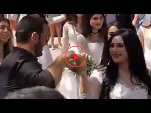 بالفديو . . زفاف اسطورى للفنان كاظم الساهر فى دبي بعد خطبته للفتاة سارة التونسية / رومانسي جدا