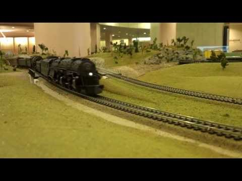 Norfolk and Western 1214 and 2087 doubleheaded with water tender's and coal part 4