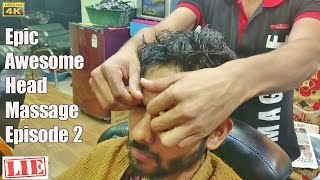 INTENSE SCALP FORE HEAD MASSAGE ASMR NO TALKING | INDIAN BARBER SALON ASMR