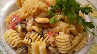 Паста с Мидиями и Фасолью Италия Pasta Cozze e Fagioli