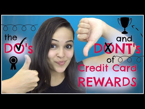 Credit Card Rewards Dos And Donts