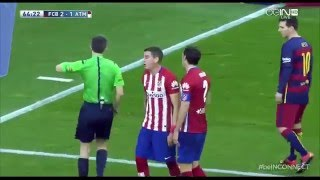 [ENGLISH] Diego Godin Red Card Suarez Barcelona vs Atletico Madrid
