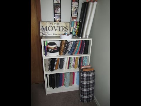 Sewing Room Craft Room Fabric Material Organization using Comic Book Board