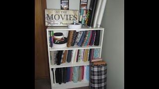 Sewing Room Material Organization Using Comic Book Board