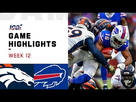 Broncos vs. Bills Week 12 Highlights | NFL 2019