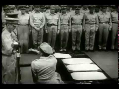 Japanese Surrender Signing On USS Missouri (1945)