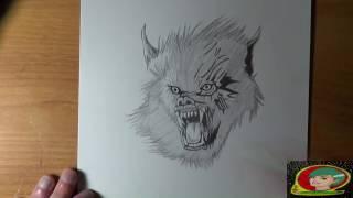 Dessin Loup garou [ Spécial vidéo Halloween ]