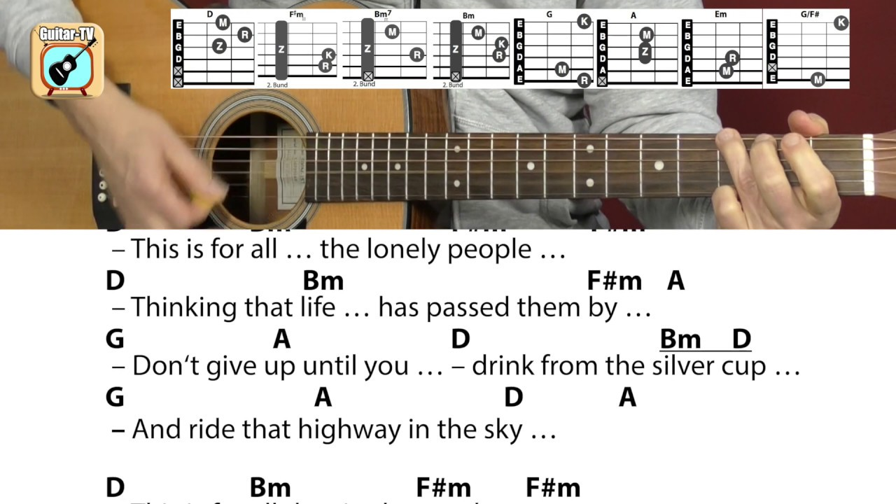 Lonely People   America • Cover, Chords & Lyrics, Guitar Lesson/Tutorial