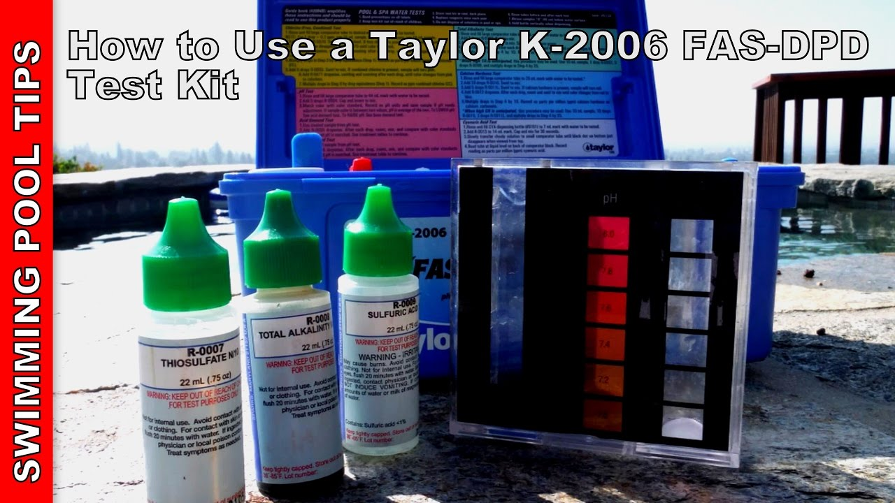 How To Use A Taylor Complete Fas Dpd Pool Water Test Kit K