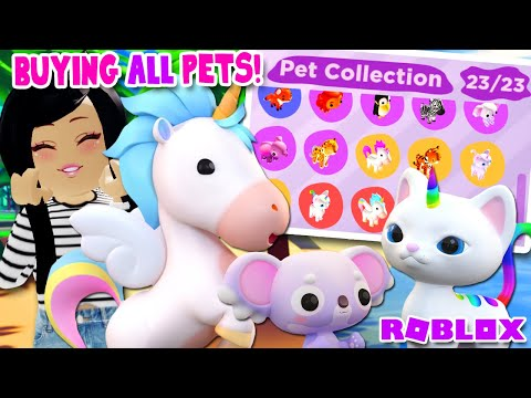 I Bought All The New Pets Overlook Bay Roblox Youtube