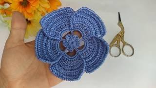 Como Fazer uma Flor Maravilhosa no Crochê Irlandês