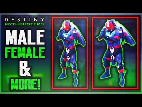 Do Females Have A Smaller Hitbox Than Males In Destiny & MORE! (Destiny Mythbusters)