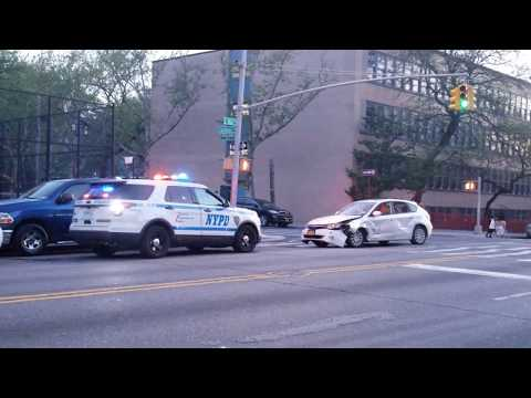 NYPD Operating On Scene Of A MVA Involving A NYPD RMP In The Bronx, NY