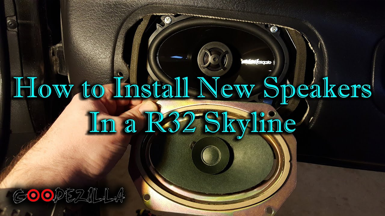 how to install speakers in a r32 skyline