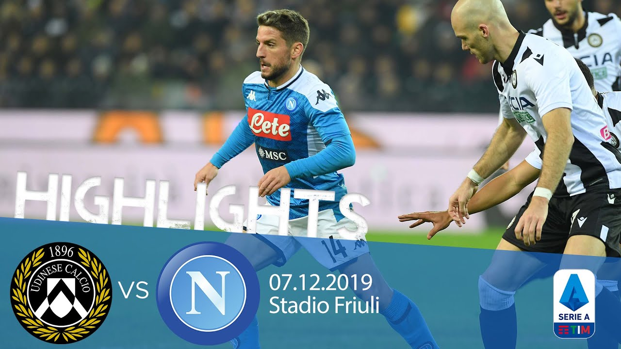 Highlights Serie A Udinese Vs Napoli   Youtube