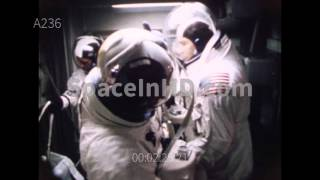 Apollo 8 astronauts ingress and egress at LC39
