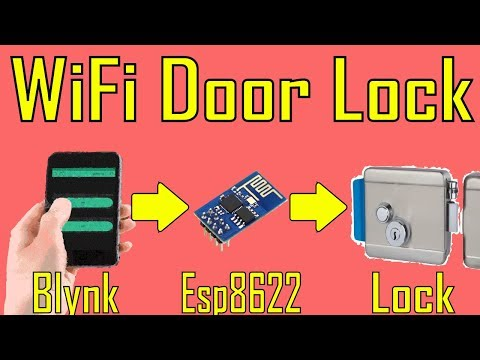 WiFi Home Door Lock| Blynk | iot project # 4