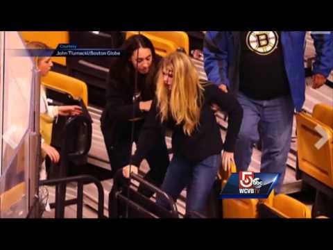 Freak accident injures two fans at TD Garden
