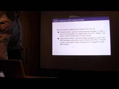 Matthew Dixon's talk on using GPUs/parallel in Python & R at Thalesians London - 25 Mar 2015