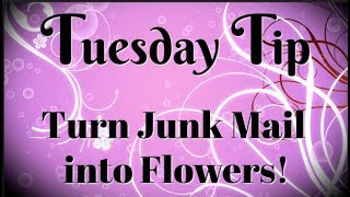 Turn Junk Mail into Flowers | Tuesday Tip