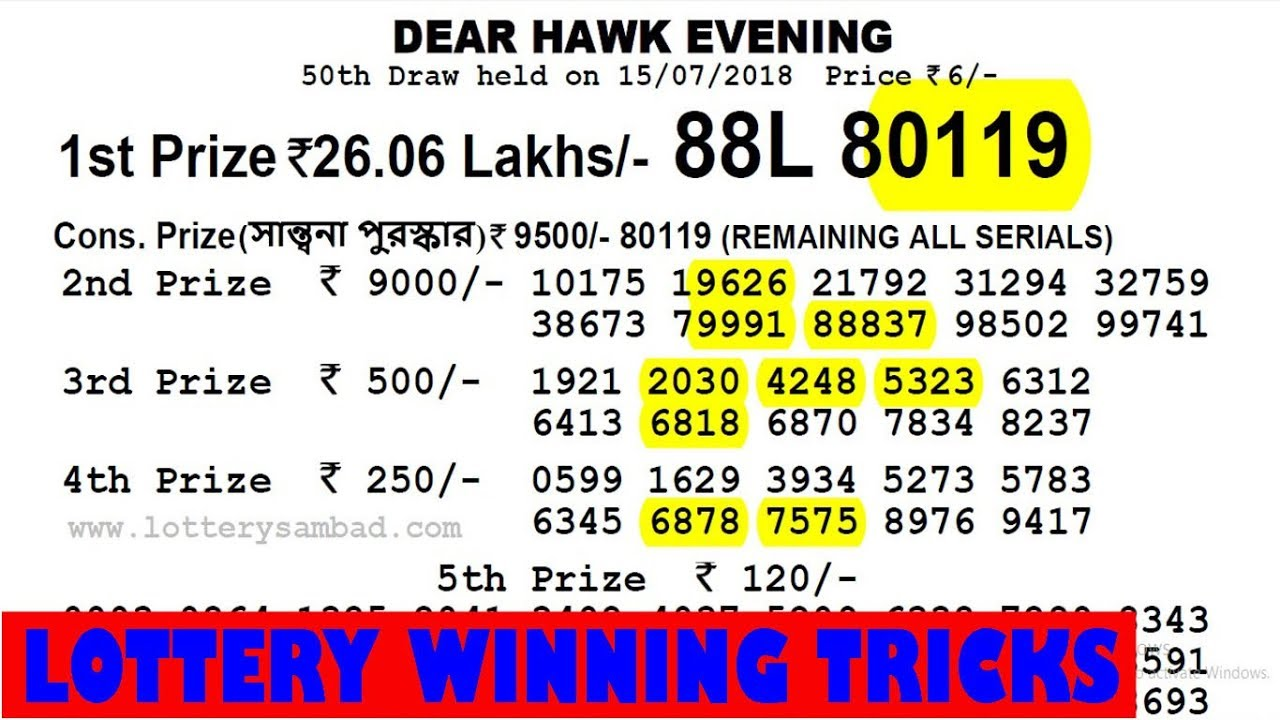 Lottery Winning Formula By 4 Digit Leher Number My Personal View,Best way  to win lottery
