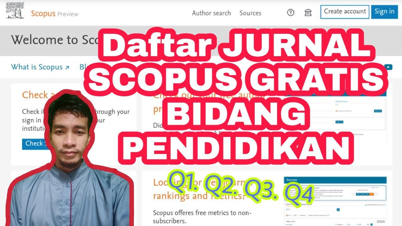 Daftar Jurnal Scopus Gratis 2020 Bagian 1 Bidang Pendidikan Youtube
