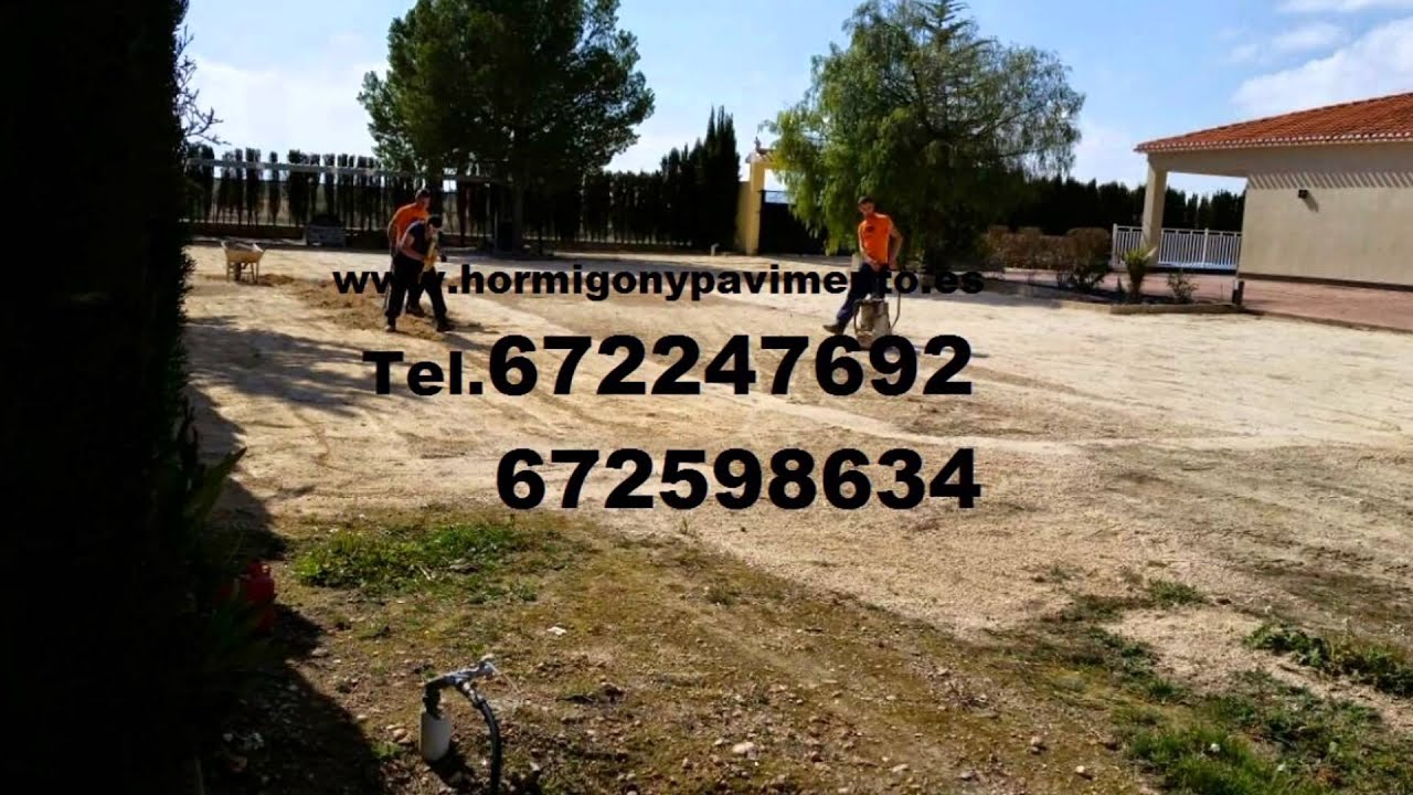 Jardineras hormigon impreso youtube murcia for Hormigon impreso youtube