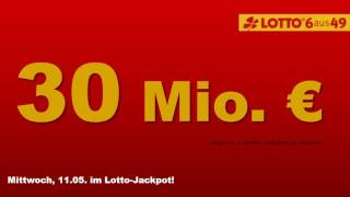 Lotto am Mittwoch 11.5.16 - Heute 30 Millionen im Lotto-Jackpot