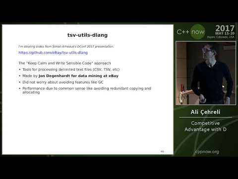 "C++Now 2017: Ali Çehreli ""Competitive Advantage with D"""