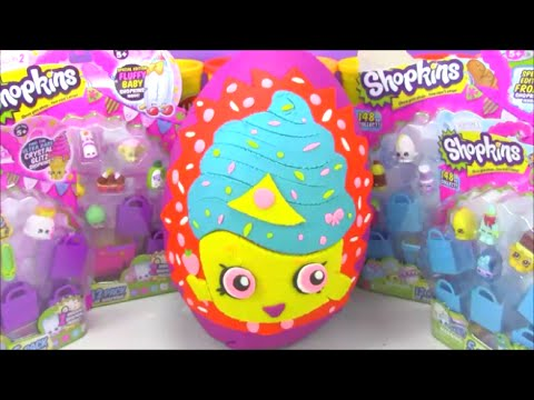 Giant Shopkins Surprise Egg Limited Edition Cupcake Queen