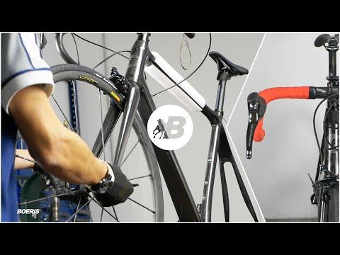 Costruzione di una bicicletta da corsa in carbonio | Construction of a carbon racing bike