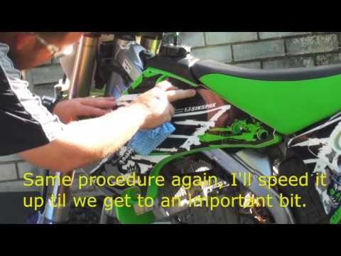 How to install dirt bike graphics - the easiest way