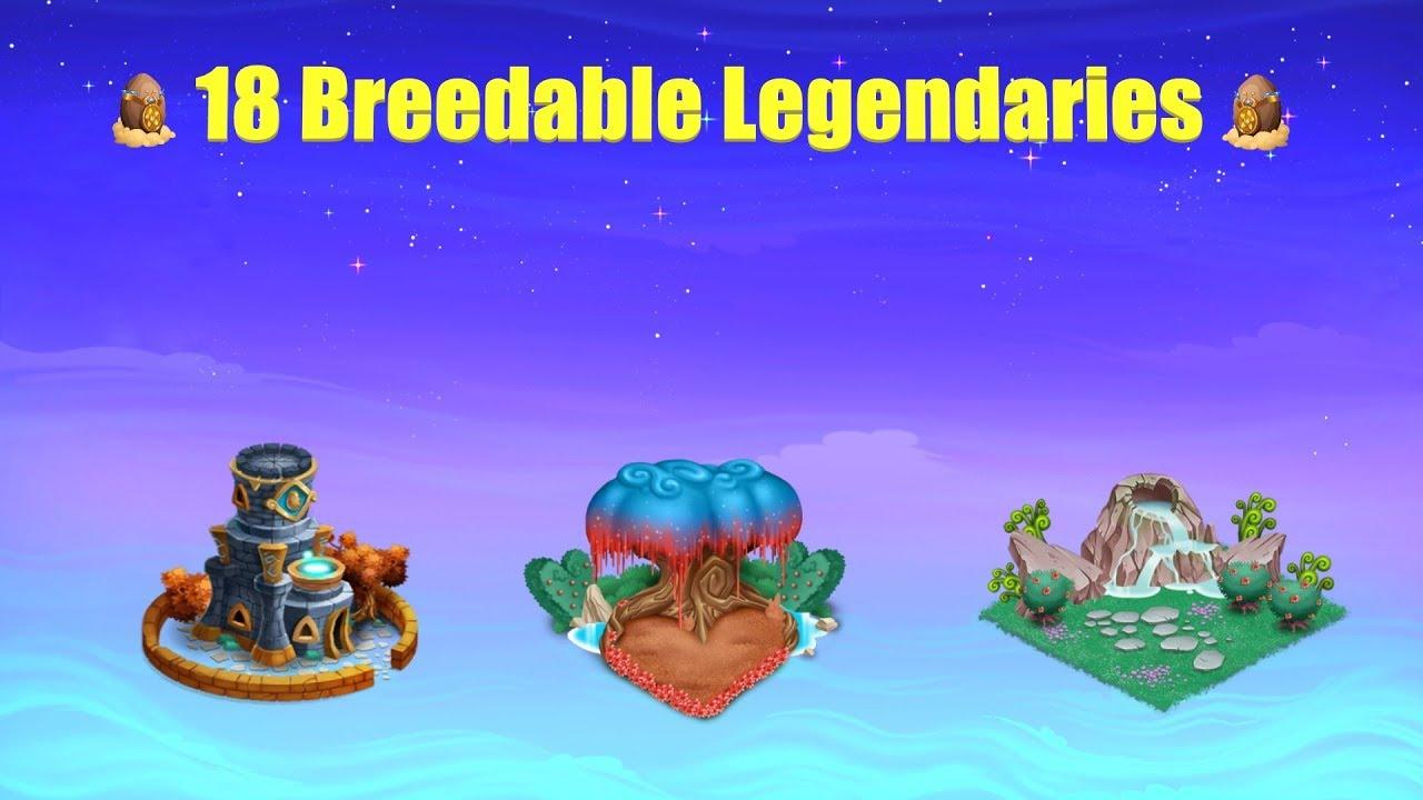 [Monster Legends] All Breedable Legendaries 2018