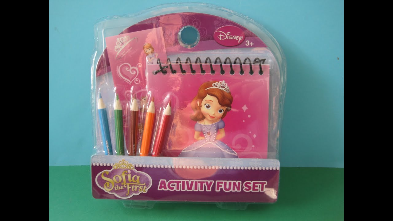 Disney\'s Sofia the First coloring set - YouTube